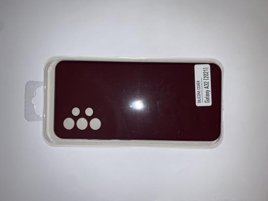 Чехол Silicone Cover для Samsung Galaxy A32, A325F, сливовый