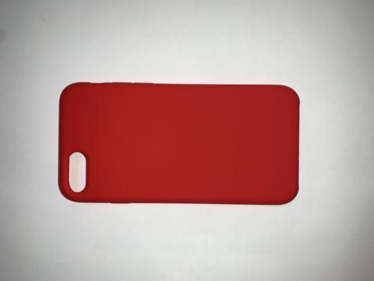 Накладка SILICONE COVER Soft-touch для Apple iPhone  7/8, красная