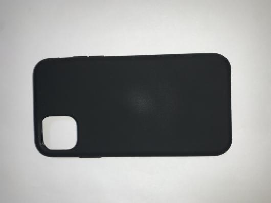 Накладка SILICONE COVER Soft-touch для Apple iPhone 11, черная