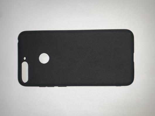 Накладка Silicone case NEW для Honor 7A Pro/7C/Y6 Prime (2018), черная