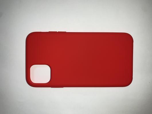 Накладка SILICONE COVER Soft-touch для Apple iPhone 11, красная