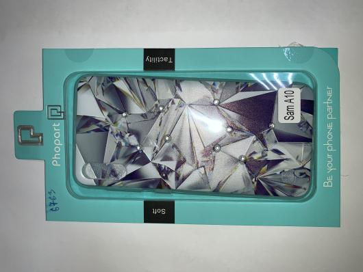 Накладка Phopart для Samsung A10 со стразами, алмаз №6763