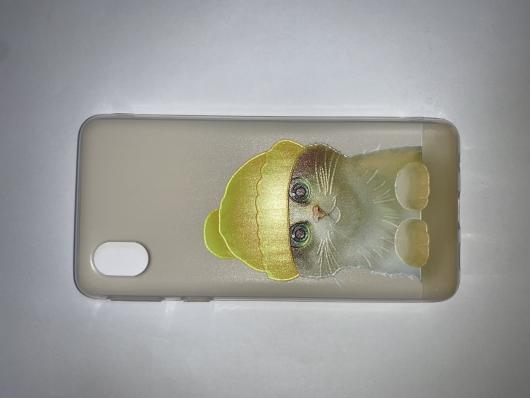 Накладка Phopart для Samsung A01 Core, котёнок №5443
