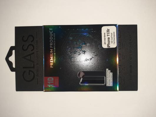 Защитное стекло для iPhone 11/Xr 10D Dust Proof Full Glue защитная сетка 0,22 мм (черное)