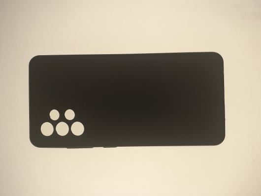 Чехол Silicone Cover для Samsung Galaxy A52, A525F, черный