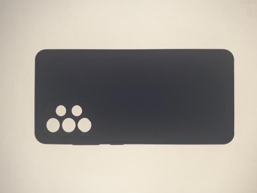 Чехол Silicone Cover для Samsung Galaxy A52, A525F, темно-синий