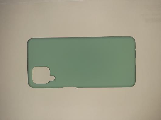 Чехол Silicone Cover для Samsung Galaxy A12, A125F, синий океан