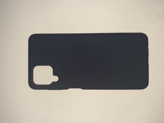 Чехол Silicone Cover для Samsung Galaxy A12, A125F, темно-синий