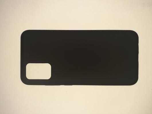Чехол Silicone Cover для Samsung Galaxy A02S, A025F, черный