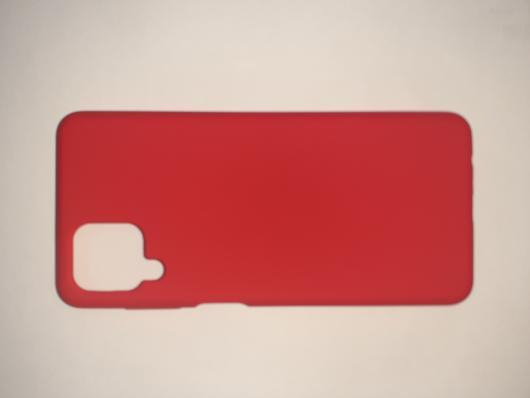 Чехол Silicone Cover для Samsung Galaxy A12, A125F, красный