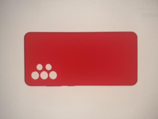 Чехол Silicone Cover для Samsung Galaxy A52, A525F, красный