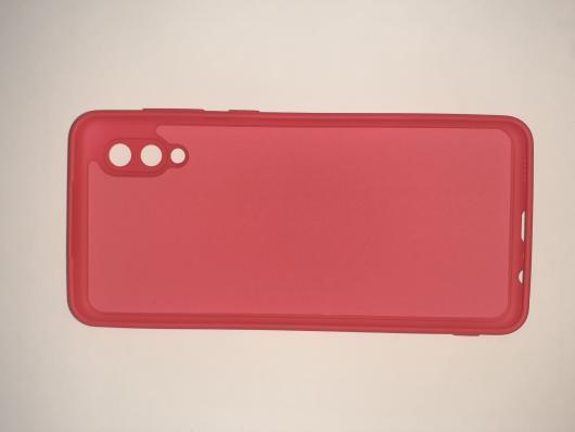 Чехол для Samsung Galaxy A02, A022F Silicone Cover Slim, красный