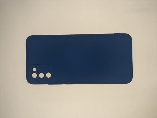 Чехол для Samsung Galaxy A02S, A025F Silicone Cover Slim, синий