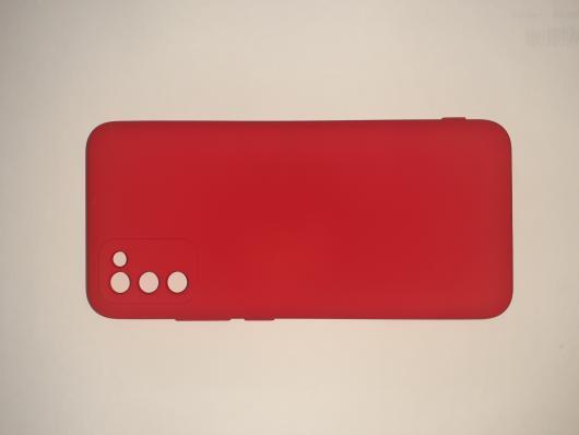 Чехол для Samsung Galaxy A02S, A025F Silicone Cover Slim, красный