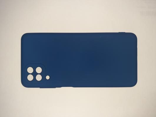Чехол для Samsung Galaxy A12, A125F Silicone Cover Slim, синий