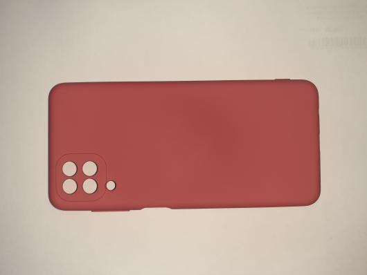 Чехол для Samsung Galaxy A12, A125F Silicone Cover Slim, малиновый