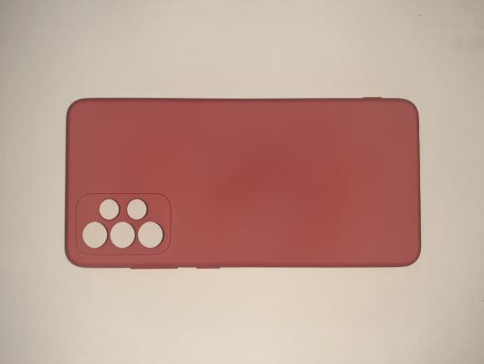Чехол для Samsung Galaxy A72, A725F Silicone Cover Slim, малиновый