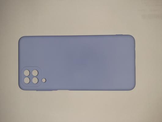 Чехол для Samsung Galaxy A12, A125F Silicone Cover Slim, голубой
