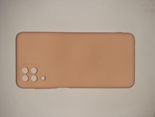 Чехол для Samsung Galaxy A12, A125F Silicone Cover Slim, розовый песок
