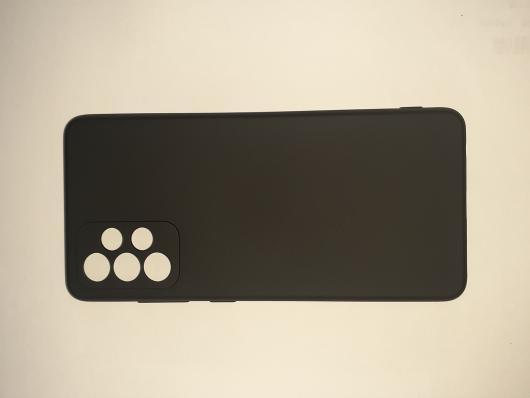 Чехол для Samsung Galaxy A72, A725F Silicone Cover Slim, черный