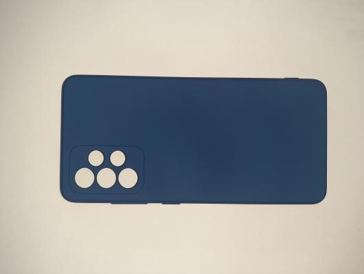 Чехол для Samsung Galaxy A52, A525F Silicone Cover Slim, синий