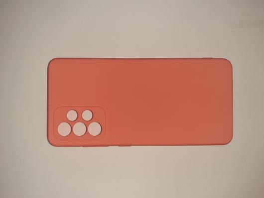 Чехол для Samsung Galaxy A52, A525F Silicone Cover Slim, персиковый