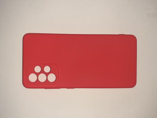 Чехол для Samsung Galaxy A52, A525F Silicone Cover Slim, красный