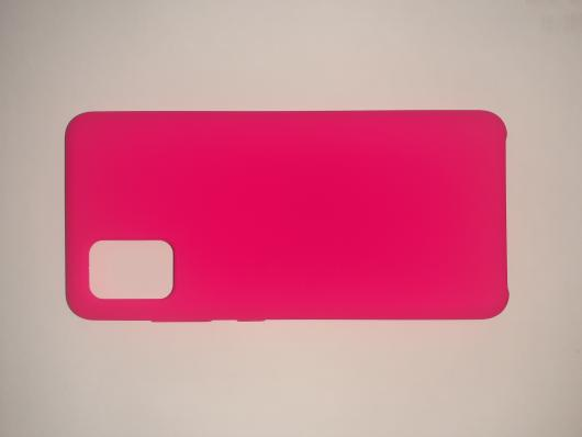 Чехол Silicone Cover для Samsung Galaxy A51, A515F (2019) ярко-розовый