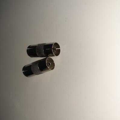 Соединитель гнездо TV - гнездо TV, никель (APP-336_Z)