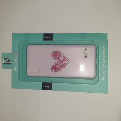 Накладка Phopart для Samsung A01 Core со стразами, сердце из цветов №5125