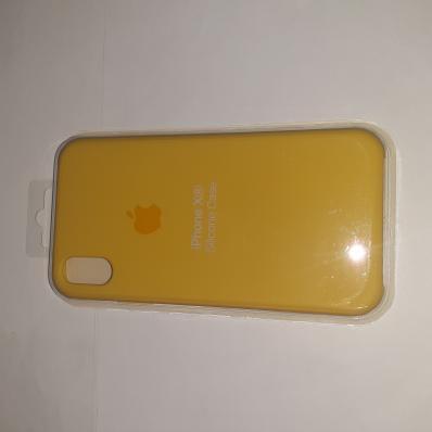 Накладка SILICONE COVER Soft-touch для Apple iPhone Xr, желтая