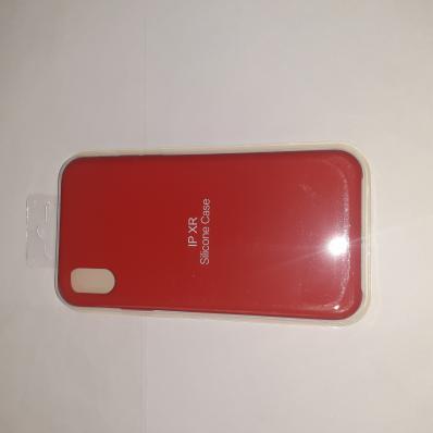 Накладка SILICONE COVER Soft-touch для Apple iPhone Xr, красная