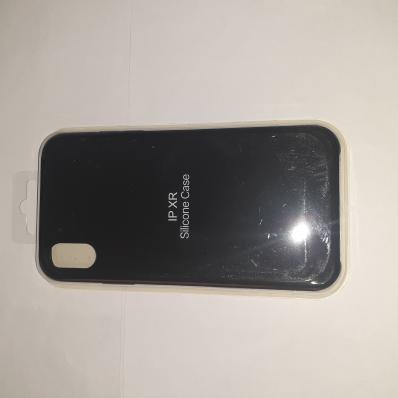 Накладка SILICONE COVER Soft-touch для Apple iPhone Xr, черная