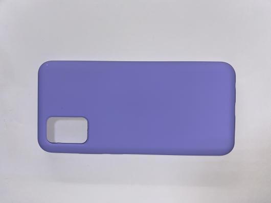 Чехол Silicone Cover для Samsung Galaxy A02S, A025F, сиреневый