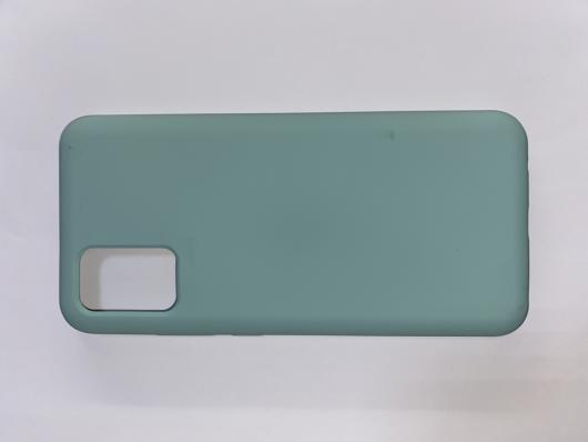 Чехол Silicone Cover для Samsung Galaxy A02S, A025F, синий океан