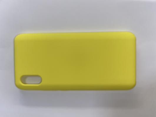 Чехол Silicone Cover для Xiaomi Redmi 9A (2020) желтый