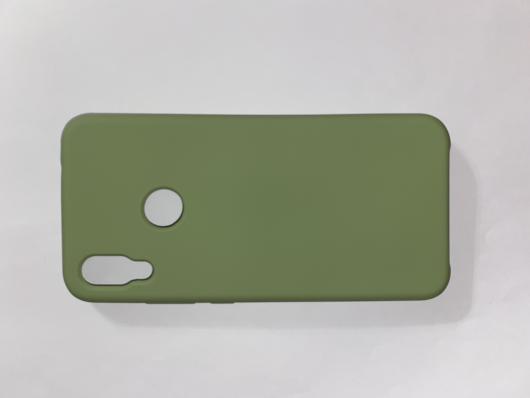 Чехол Silicone Cover для Xiaomi Redmi Note 7 (2019) мятно-зеленый