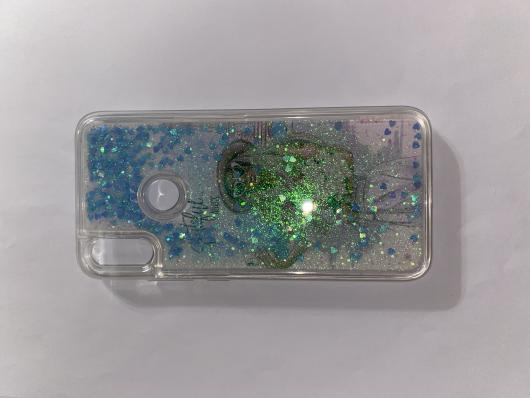 Чехол-переливашка Liquid для Xiaomi Redmi Note 7 прозрачный силикон с принтом #03