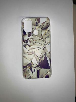 Накладка Phopart для Samsung M31 со стразами, алмаз №6763