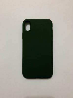 Силиконовый чехол Full Case для iPhone XR, темно-зеленый