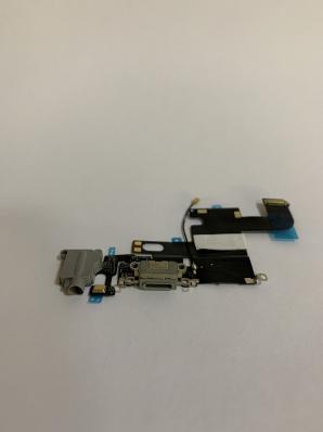 Шлейф для iPhone 6 с разъемом зарядки, гарнитуры, микрофоном, серый