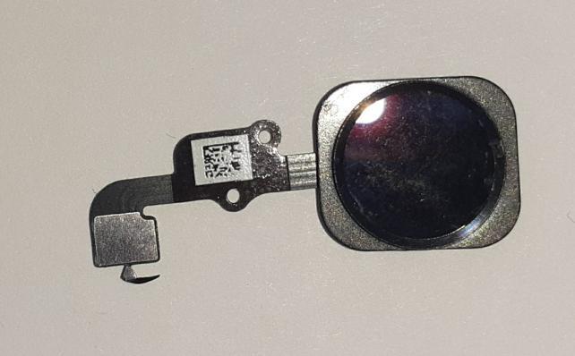 Кнопка HOME для iPhone 6S/ iPhone 6S Plus на шлейфе, с клавишей, черный