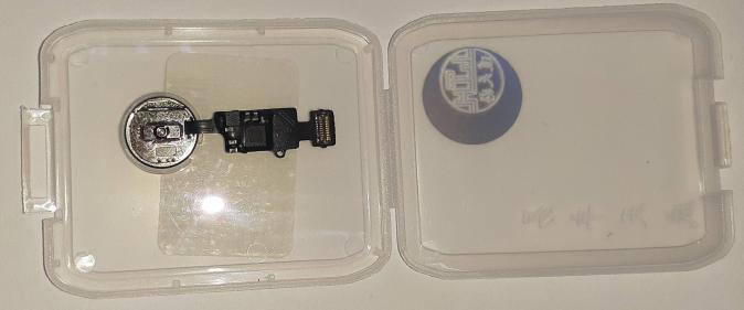 Кнопка HOME для iPhone 7/ 7 Plus/ 8/ 8 Plus на шлейфе, с клавишей, черный