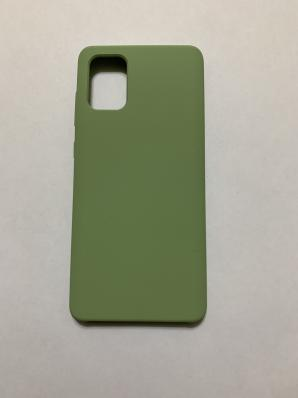 Чехол Silicone Cover для Samsung Galaxy A71, A715F (2019) мятно-зеленый