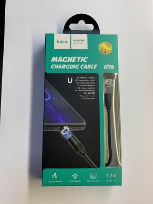 USB кабель HOCO U76 Fresh Magnetic Charging Cable For Type-C (черный)