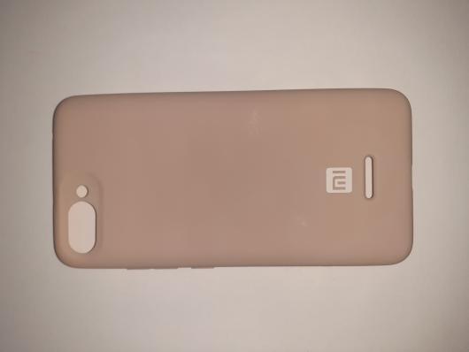 Накладка Silicone case NEW для Xiaomi Redmi 6A, бежевая (+)