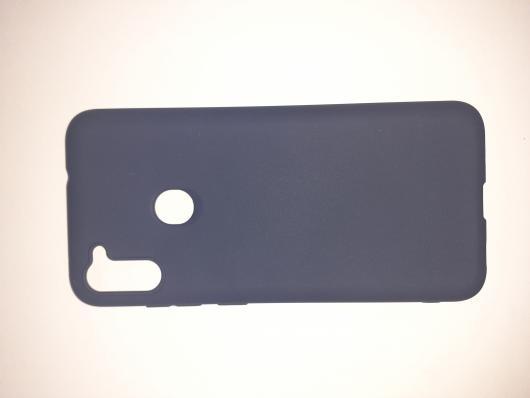 Накладка Silicone case NEW для Samsung M11, синяя