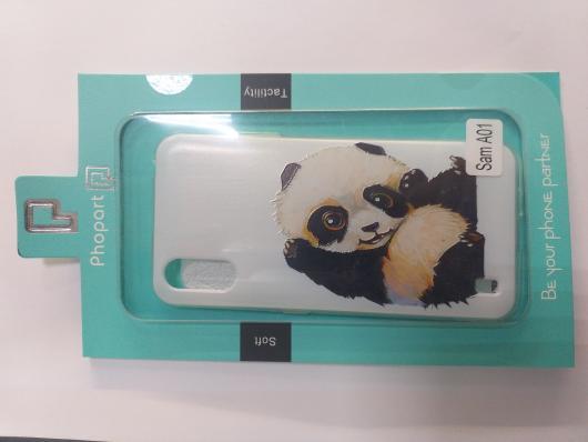 Накладка Phopart для Samsung A01, панда №6430