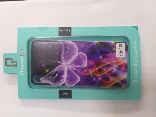 Накладка Phopart для Samsung A10 со стразами, бабочка №6410