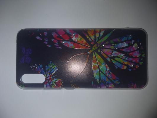 Накладка Phopart для Xiaomi Redmi 9A со стразами, бабочка №3191